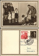 A. Hitler Stationery Postcard (P 278-4 Kindergruppe) Ganzsache-Postkarte + Mi. 691. SST. WIEN 20 April 1939. - Deutschland