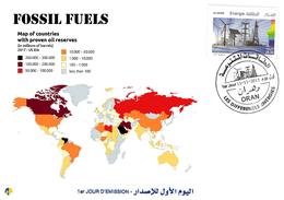 DZ Algeria 1727/8 FDC Fossil Fuels Energy Energy Oil Stocks World's Map - Oil
