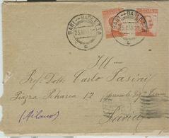 """""""AMB. BARI - BARLETTA"""",TIMBRO POSTE SU BUSTA CON LETTERA, VIAGGIATA 1922, - 1900-44 Vittorio Emanuele III"""