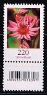Bund 2018,Michel# 3414 R ** Blumen: Hauswurz Mit EAN-Code Und Nr. 90 - Rollenmarken