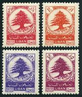 Lebanon 234-237,hinged.Michel 426-429. Cedar,1950. - Lebanon