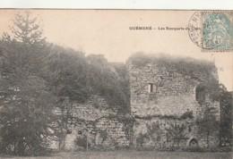 ***  56  ***   GUEMENE  Les Remparts Du Château  Bien Timbrée TTBE - Guemene Sur Scorff