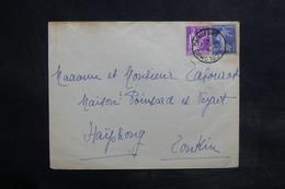 """FRANCE - Oblitération Maritime """" Colombo Paquebot """" Sur Enveloppe Pour Haïphong En 1935 - L 36124 - Marcophilie (Lettres)"""