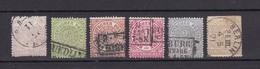 Norddeutscher Postbezirk - 1869 -  Michel Nr. 13/18 - Gest. - 40 Euro - Norddeutscher Postbezirk