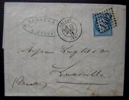 Epinal 1873 Lesnès & Cie Lettre Pour Lunéville - 1849-1876: Periodo Clásico