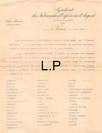 30-0598    1907 SYNDICAT DES FABRICANTS D ORFEVRERIE D ARGENT A PARIS - 1900 – 1949