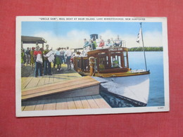 Uncle Sam Mail Boat At Bear Island   Lake Winnipesaukee - New Hampshire > Ref 3498 - Other
