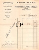 30-1001    1913 DRAPERIES NOUVEAUTES MAISON DE GROS DE MARQUESSAC RODAS & NICOLAS A BRIVE - M. PAYROU A MONTIGNAC - France