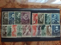 OLANDA Anni '30/'40 - 4 Serie Beneficenza Timbrate (1 Valore Punti Ruggine) + Spese Postali - 1891-1948 (Wilhelmine)