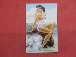 Seashore Senorita   Flack On Leg     Ref 3498 - Pin-Ups