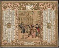 ALMANACH DES POSTES ET DES TELEGRAPHES - ANNEE 1900 - PLACE DE L'OPERA - Relief-Intérieur Plusieurs Pages - Calendari