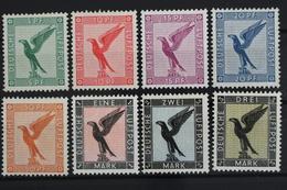 Deutsches Reich, MiNr. 378-384, Falz / Hinge - Allemagne