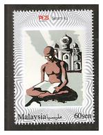 Mahatma Gandhi Personalized Stamp 2019 Swarovski Crystal Taj Mahal SS12 Mint Stamp - Malaysia (1964-...)