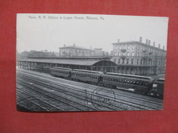 Rootograph  Penn R.R. Station At Logan House Altoona  Pennsylvania    Ref 3499 - United States