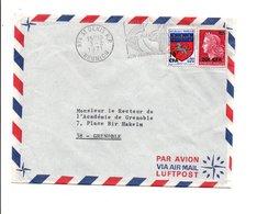 REUNION AFFRANCHISSEMENT COMPOSE SUR LETTRE 1971 - Reunion Island (1852-1975)