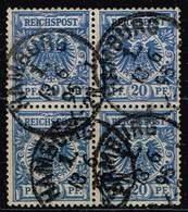 DR 1889,Michel# 48 D O Im Viererblock Gepr. BPP Jäschke-Lantelme - Duitsland
