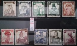 1935 Deutsche Nothilfe  ** Mi.Nr. 588-97 Mi.Pr. 180.--€ - Deutschland
