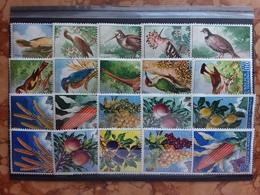 SAN MARINO - Uccelli E Frutta - Serie Complete Nuove ** (alcuni Ingiallimenti) + Spese Postali - Ungebraucht