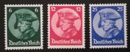 1933 Friedrich D. Große  ** Mi.Nr. 479-81 Mi.Pr. 320.--€ - Deutschland