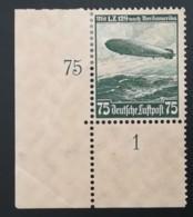 1936 Luftschiff Hindenburg Eckrand *; ** Mi.Nr. 606-07 Mi.Pr. 50.--€(Preis Für Falz,bzw. Ohne Gummi) - Deutschland