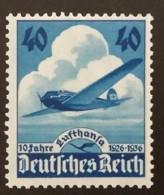 1936 Lufthansa ** Mi.Nr. 603 Mi.Pr. 65.--€ - Deutschland