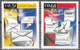 Cyprus 2008 Michel 1125A - 1126A Neuf ** Cote (2015) 3.70 Euro Europa CEPT L'écriture D'une Lettre - Chypre (République)