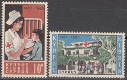 Cyprus 1963 Michel 223 - 224 Neuf * Cote (2009) 5.50 Euro Centenaire Du Croix-Rouge - Chypre (République)