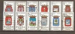 España/Spain-(usado) - Edifil  1481-92  - Yvert  1151-56, 1179-84 (o) - 1961-70 Usados