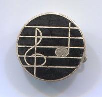 MUSIC NOTE - Vintage Pin, Badge, Abzeichen, Enamel - Música