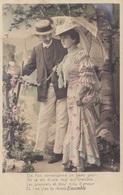 """CARTE FANTAISIE. COUPLE. SÉRIE COMPLÈTE DE 5 CARTES COLORISÉES """" ENSEMBLE """". ANNÉE 1905 - Couples"""