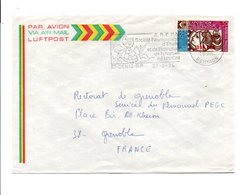 REUNION LETTRE POUR LA METROPOLE 1974 - Reunion Island (1852-1975)