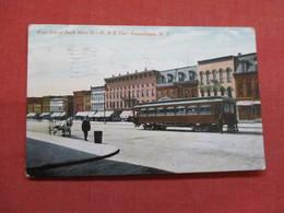 Trolley West Side Of Main Street R & E Car  Canandaigua - New York    Ref 3499 - NY - New York