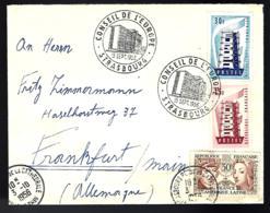 LETTRE EN PROVENANCE DE STRASBOURG - EUROPAS - POUR FRANKFORT - 1956 - - France