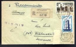 RECOMMANDÉ EN PROVENANCE DE BENNWIHR / MITTELWIHR - 1958 - POUR L'ALLEMAGNE - - France
