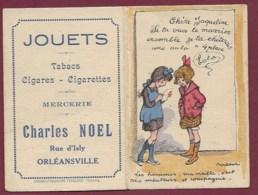 200719A - CALENDRIER PETIT FORMAT 1929 POULBOT - Humour Toto - Pub Jouet  Charles NOEL Orléansville - Calendars