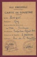 200719A - 1955 CARTE DE MEMBRE POSTIER SINISTRE TREMBLEMENT DE TERRE ORLEANSVILLE ALGER 1954 - PTT - Andere