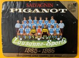 11090 -  Lausanne-Sport Saison 1985-1986 Salvagnin Piganot Suisse - Soccer