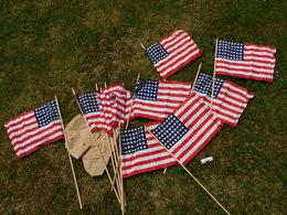 SUPERBE LOT 12 DRAPEAUX U.S.A. 39-45 Coton  48 ETOILES - NEUF DE STOCK - Flags