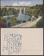Görlitz Vidadukt Mit Eisenbahn Neisse Mit Booten Um 1905, Rs Mit Text, - Eisenbahnen