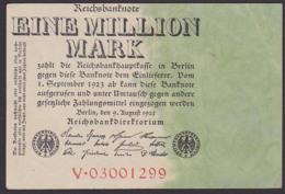 Deutsches Reich Inflationsschein 1 Million Reichsbanknote 9.8.23, Wz. Eichenlaub - [ 3] 1918-1933: Weimarrepubliek