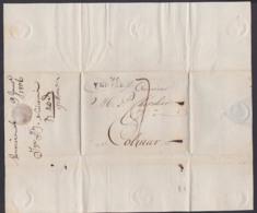 VERVIERS Vorphililatelie Brief 1806 Belgien Colmar Frankreich - 1794-1814 (Periodo Frances)
