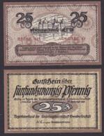Dresden-Neustadt 1921 Amtshauptmannschaft Gutschein 25 Pfg.  Abb. Schloss Moritzburg, Drei Haselnüsse - 1918-1933: Weimarer Republik