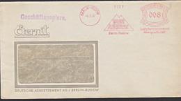 Deutsches Reich AFS =012= Berlin Rudow DUR ASBEST Zement Eternit - Affrancature Meccaniche Rosse (EMA)