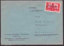 Sarre Saarland 362 Fern-Bf Mit 15 Fr. MWSt. Saarbrücken 'Baugeld Durch Bausparen' - Covers & Documents