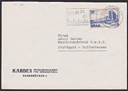 Sarre Saarland 332 Brief Mit 30 Fr. MWSt. Werbung 'Nimm Ein  Postscheckkonto ...' - Storia Postale