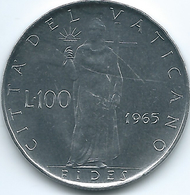 Vatican City - Paul VI - 1965 - 100 Lire - KM82.2 - Vatican