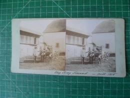Chez Remy Ferranet. Photographie Originale Du 19e Siècle (aout 1895) - Photos Stéréoscopiques