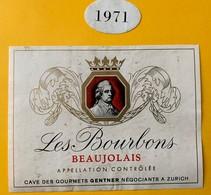 11105 - Les Bourbons 1971 Beaujolais - Beaujolais