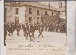 FUNERAILLES M BERTEAUX MM FALLIÈRES ET LEPINE A LA LEVEE DU CORPS 18*13CM Maurice-Louis BRANGER PARÍS (1874-1950) - Célébrités
