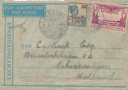 Nederlands Indië - 1931 - LP-cover Van LB SOENGEIBEDJANGKAR Naar Scheveningen - Crashmail Ooievaar Bangkok? - Indes Néerlandaises